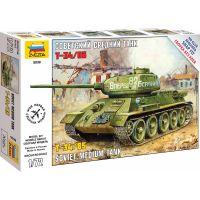 Zvezda Snap Kit tank T-34 85 1:72