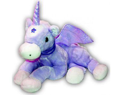 Sparkle plyšový kůň se zvukem 60cm fialový