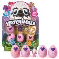Spin Master Hatchimals sběratelská zvířátka ve vajíčku čtyřbalení s bonusem S2 Modro-zelená liška