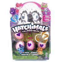 Spin Master Hatchimals sběratelská zvířátka ve vajíčku čtyřbalení s bonusem S2 Zeleno-růžová kočička