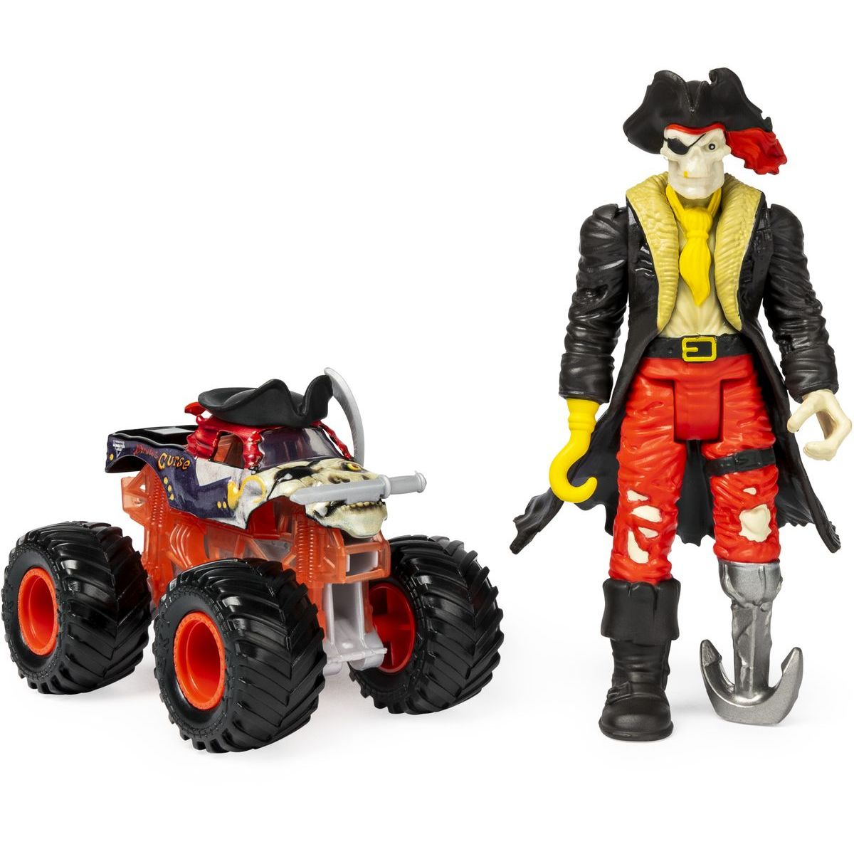 Spin Master Monster Jam kovové auto s figurkou Pirates Curse a Captain Black