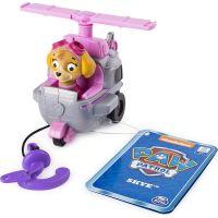 Spin Master Paw Patrol Malá vozidla s figurkou Skye vrtulník s hákem