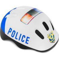 Spokey Dětská cyklistická přilba Policie 49-56 cm modrá