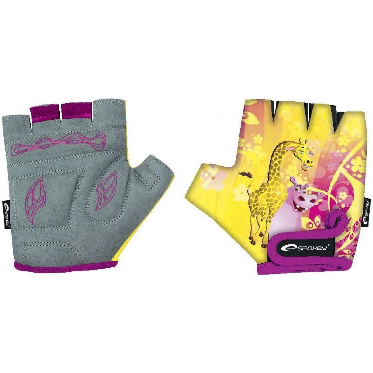 Spokey Giraffe Glove Dětské cyklistické rukavice XS 16 cm