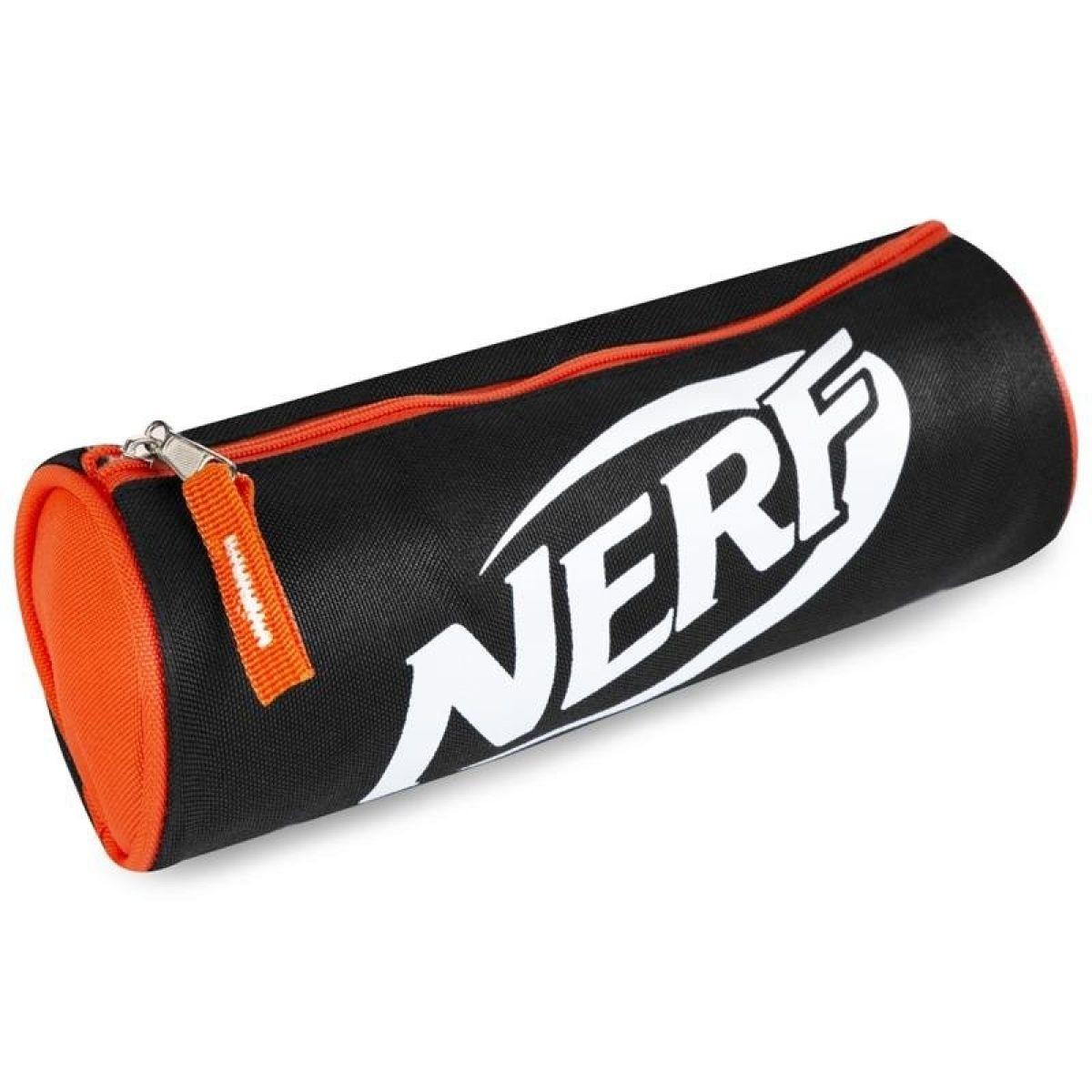 Spokey Nerf Scroll Školské etue čiernooranžové