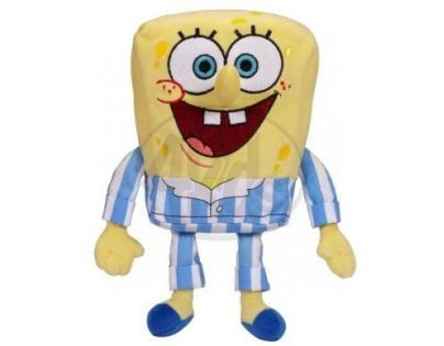 SpongeBob plyš 15cm - V pruhovaném pyžamu