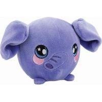 Squeezamals měkké plyšové zvířátko 9 cm Slon fialový