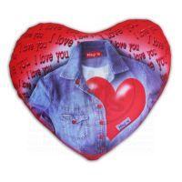 Rappa Srdce Valentýn textilní 24cm s kul. výplní