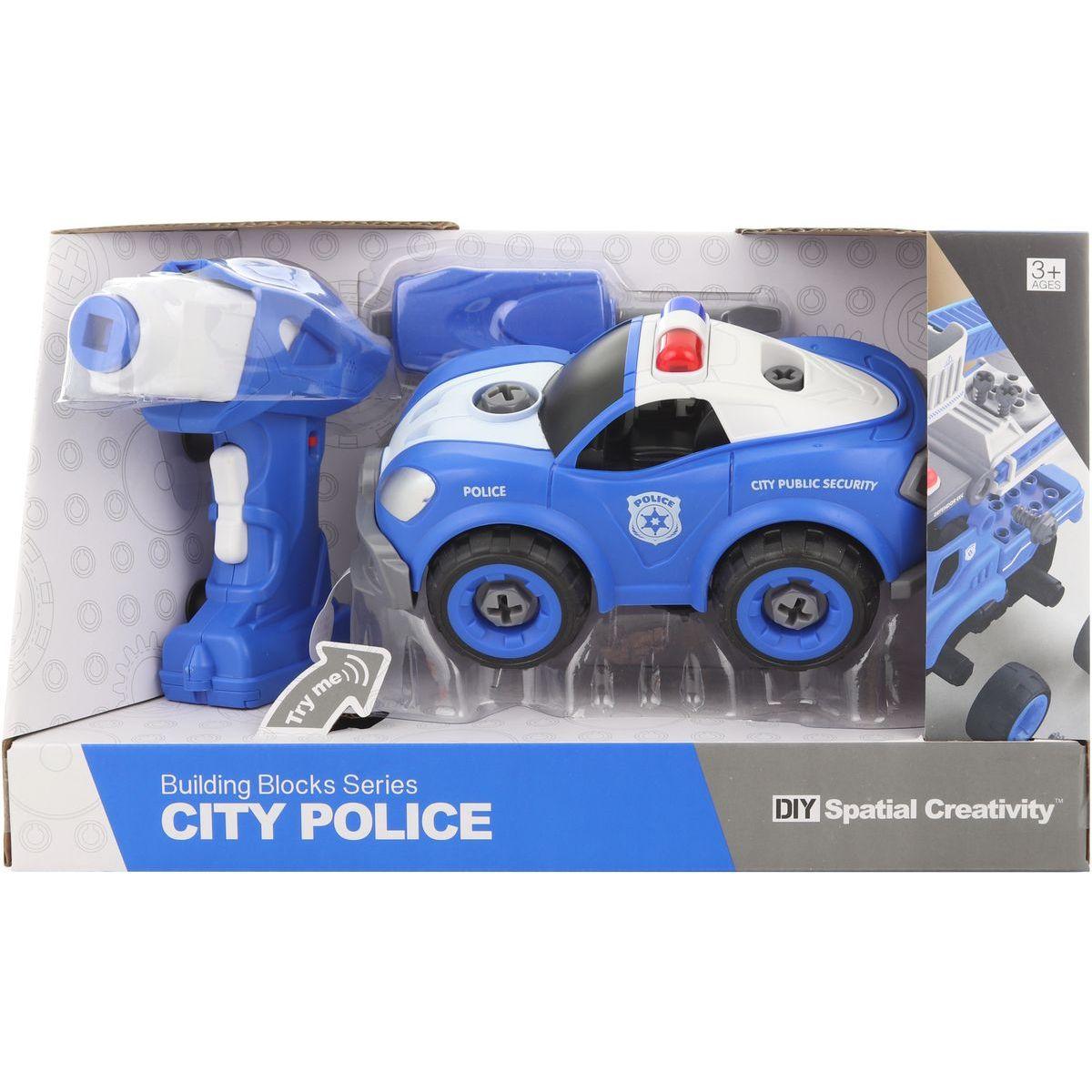 Šroubovací policejní auto na dálkové ovládání
