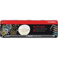 Stabilo Pen 68 metallic 6 ks kovový box