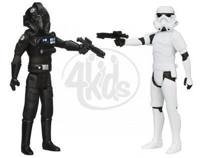 Hasbro Star Wars akční figurky 2ks - Tie pilot a Stormtrooper
