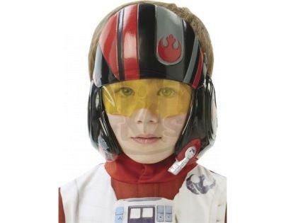 Black Fire Star Wars EP7 X-Wing Fighter Pilot maska