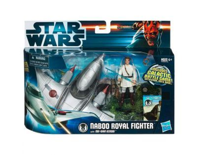 Star Wars vozidlo s figurkou - Naboo Royal Fighter