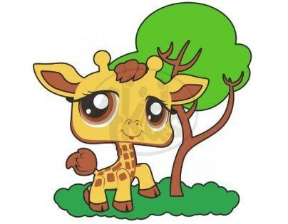 Starpark Dekorace na stěnu žirafa LPS 32 cm