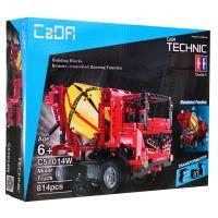 Fleg Stavební stroje na dálkové ovládání 2 v 1 Míchačka-Auto s rampou