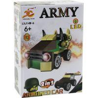 Epee Stavebnice Armáda s LED kostkou 2v1 Armored Car
