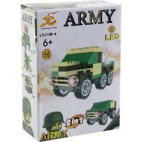 Epee Stavebnice Armáda s LED kostkou 2v1 Army