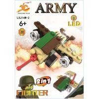Epee Stavebnice Armáda s LED kostkou 2v1 Fighter