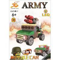 Epee Stavebnice Armáda s LED kostkou 2v1 Missile Car