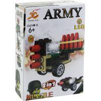 Epee Stavebnice Armáda s LED kostkou 2v1 Missile