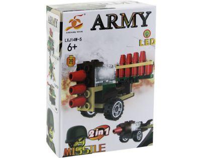 Stavebnice Armáda s LED kostkou 2v1 - Missile
