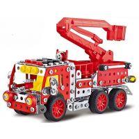 Stavebnica Malý mechanik hasičské auto s plošinou 328 ks