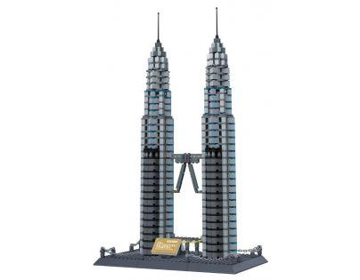 Stavebnice Petronas věže 1160 dílků (WANGE 8011)