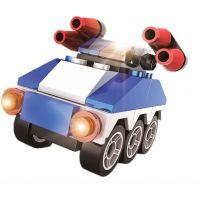 Stavebnice Policie s LED kostkou 2v1 Armored Car 42 dílků 2