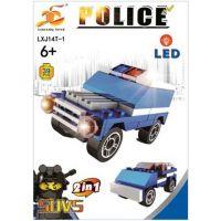 Epee Stavebnice Policie s LED kostkou 2v1 SUVS