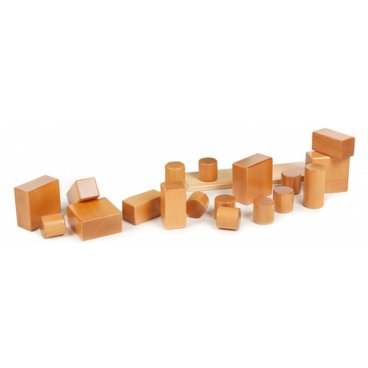 PONY Základní sada přírodních dřevěných kostek