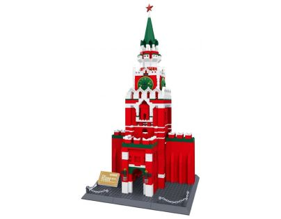 Stavebnice Spasskaya věž Kreml 1048 dílků (WANGE 8017)