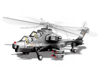 Stavebnice WZ-10 Gunship bitevní vrtulník 296 dílků (Dr.Luck JX002)