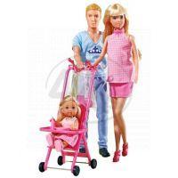Simba S 5733200 - Šťastná rodina - těhotná Steffi a Kevin
