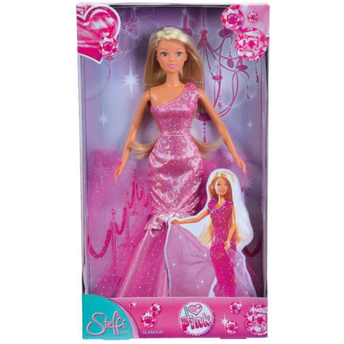 Steffi Love Girls Panenka I Love Pink - Světle růžová s jedním ramínkem