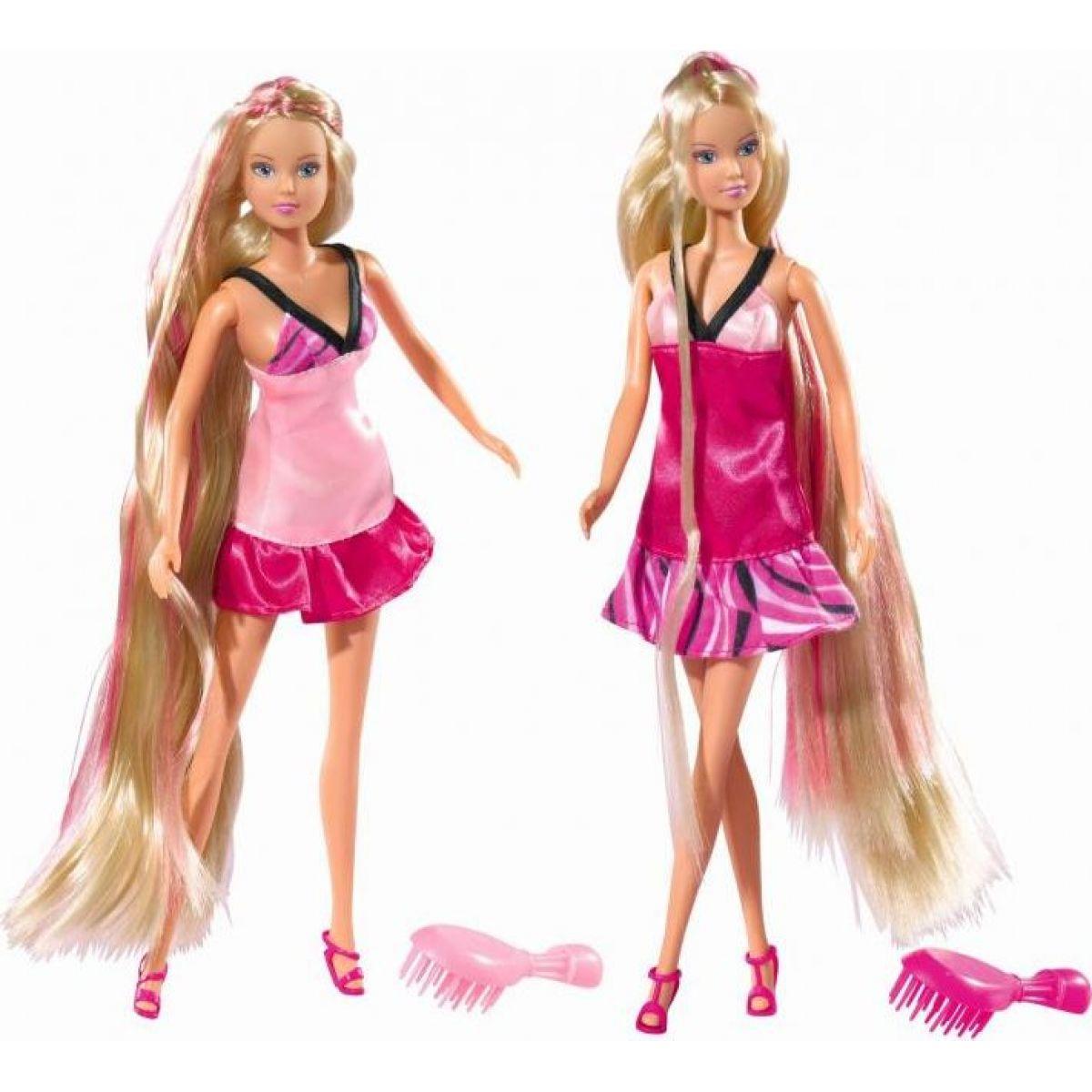 SIMBA Panenka Steffi s dlouhými vlasy - Růžová světlá