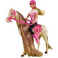 Simba Steffi Love Panenka s koněm s hnědou hřívou