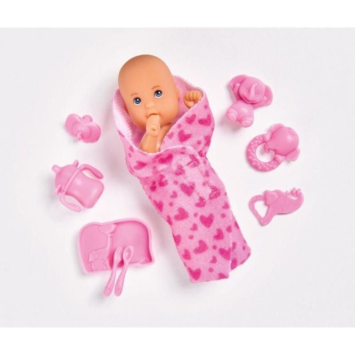 Steffi New Born Baby Bábätko ružové