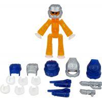 Stikbot action pack figurka s doplňky oranžový s helmou