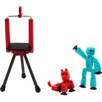 Stikbot Sada zvířátko + figurka tyrkysovo-červená