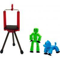 Stikbot Sada zvířátko + figurka zeleno-modrá