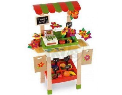 Stánek s ovocem, zeleninou a květinami Smoby