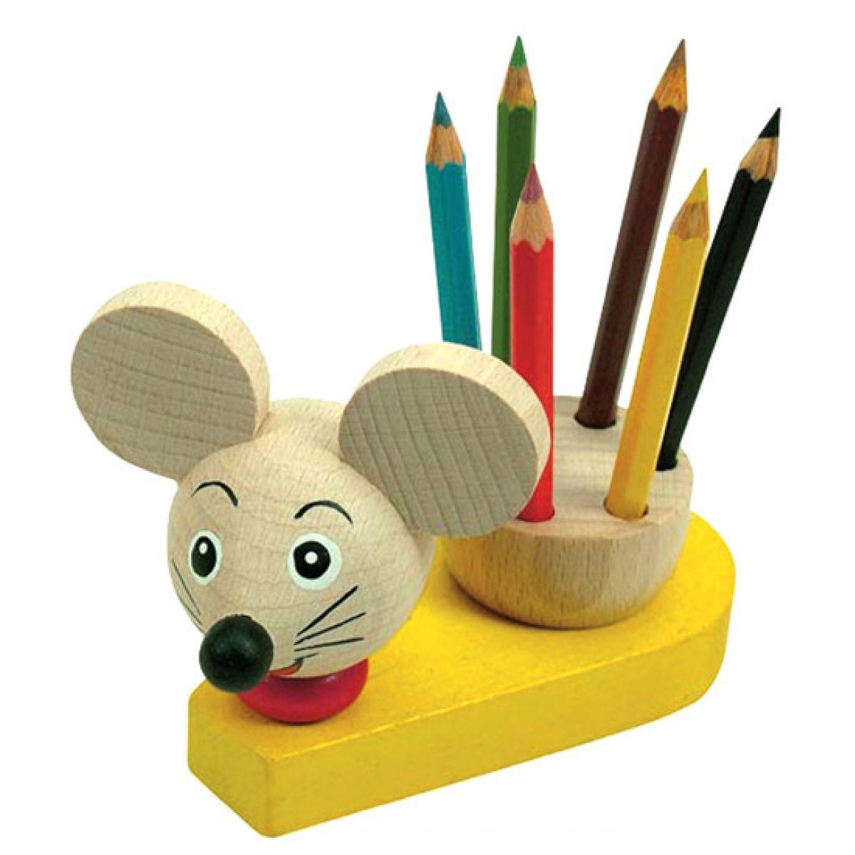 Stojánek s pastelkami myš