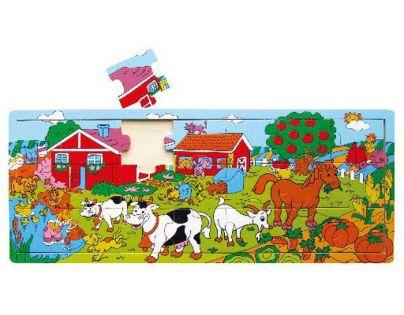 Studo Wood Deskové puzzle farma 21 dílků