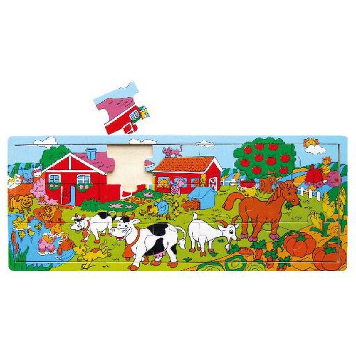 Studo Wood deskové puzzle farma dřevěné 21 dílů