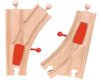 HM Studio Studo Wood Kolej mechanická výhybka 2ks