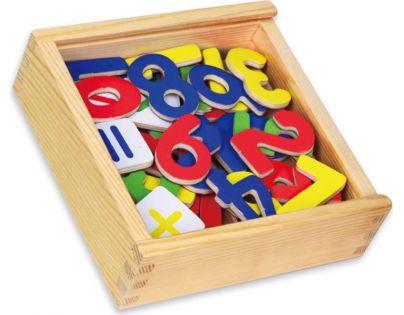HM Studio Studo Wood Magnetky čísla 37 ks