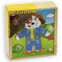 HM Studio Studo Wood Puzzle Šatní skříň pejska