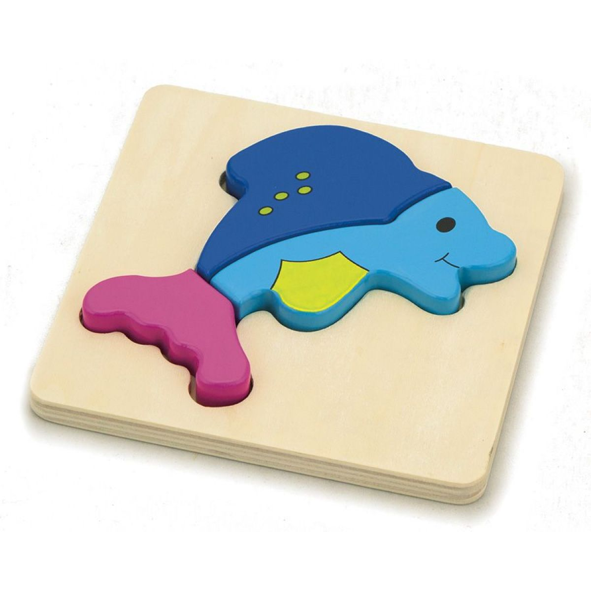 Studo Wood Dřevěné puzzle pro děti Delfínek 3 dílky