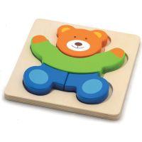 HM Studio Studo Wood Puzzle medvěd