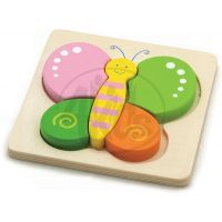 HM Studio Studo Wood Puzzle Motýl